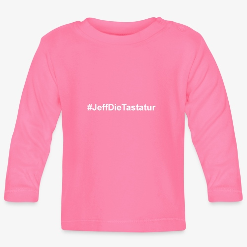 hashtag jeffdietastatur weiss - Baby Langarmshirt