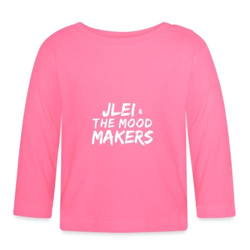 Jlei & The Mood Makers Schriftzug Weiss - Baby Langarmshirt