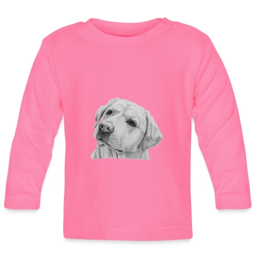 labrador retriever yellow - head - Langærmet babyshirt