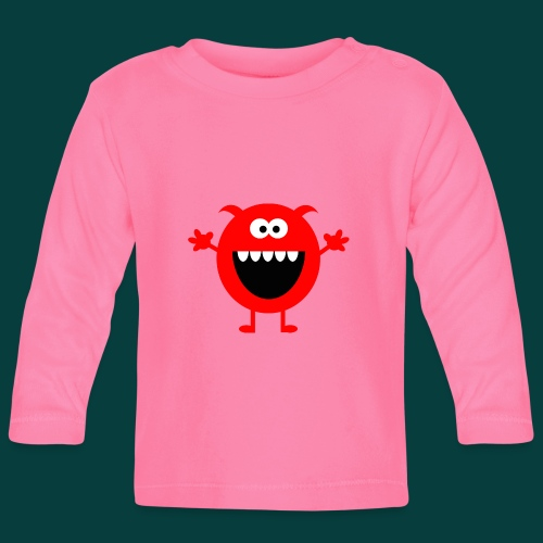 Lachendes Rotes Monster - Baby Langarmshirt