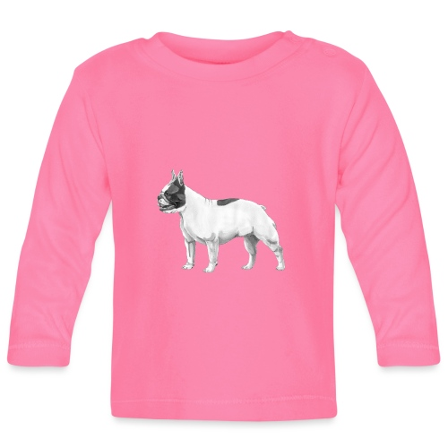 French Bulldog - Langærmet babyshirt