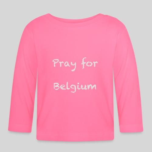 Pray for Belgium - T-shirt manches longues Bébé