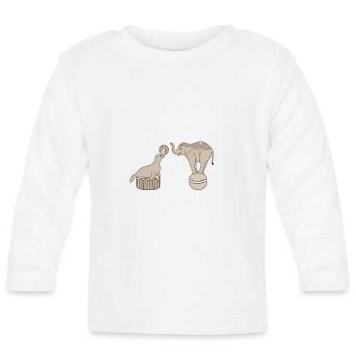 Circus elephant and seal - Baby Long Sleeve T-Shirt