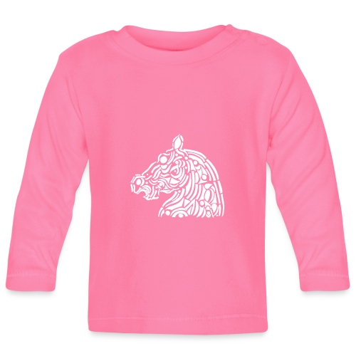 horse - cheval blanc - T-shirt manches longues Bébé