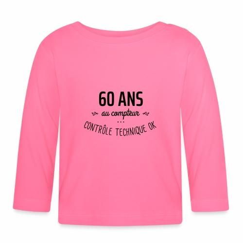 60 ans au compteur - T-shirt manches longues Bébé