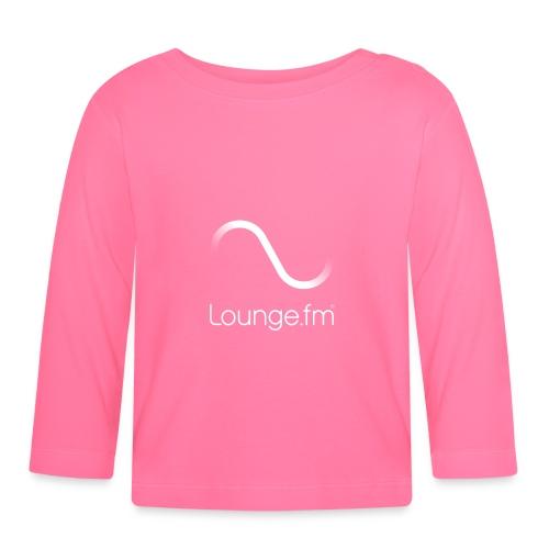 loungefm logo weiss - Baby Langarmshirt