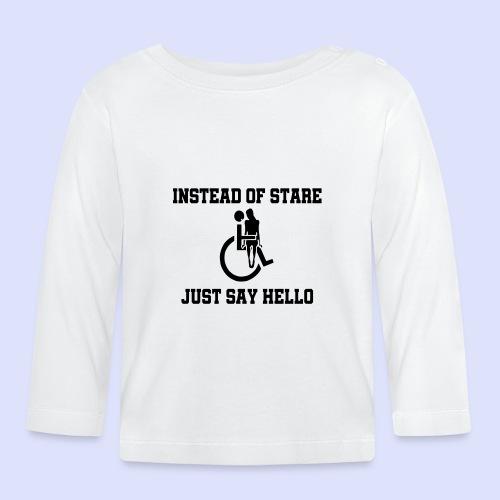 In plaats van staren mag je ook gedag zeggen - T-shirt