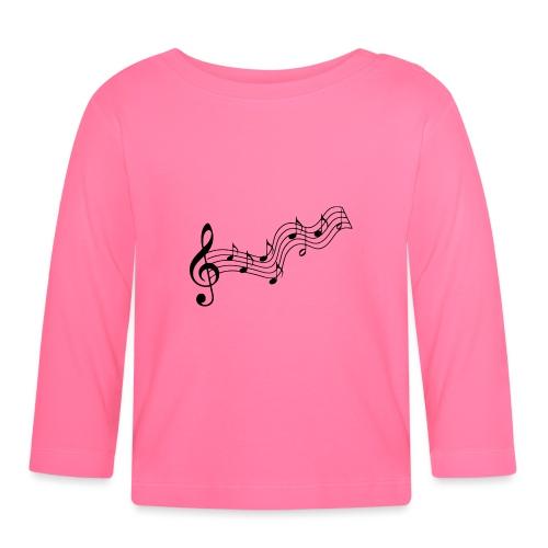 Musiknoten - Baby Langarmshirt