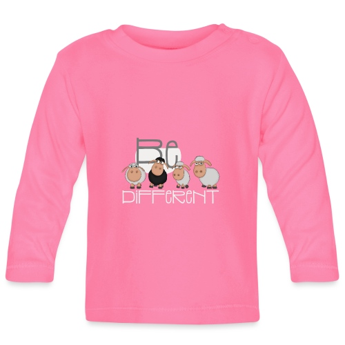 Coole Be different Schafe Gang - Gute Laune Schaf - Baby Langarmshirt