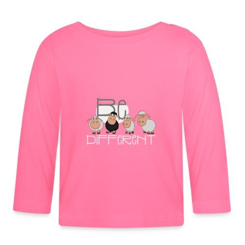 Coole Be different Schafe Gang - Gute Laune Schaf - Baby Langarmshirt