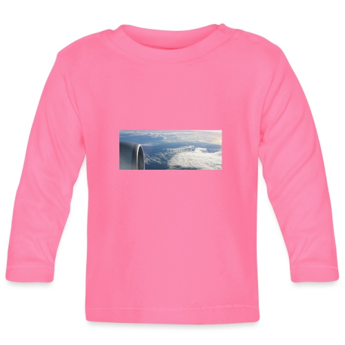 Flugzeug Himmel Wolken Australien - Baby Langarmshirt