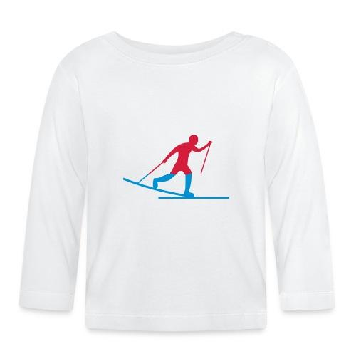 Skiløper - Langarmet baby-T-skjorte