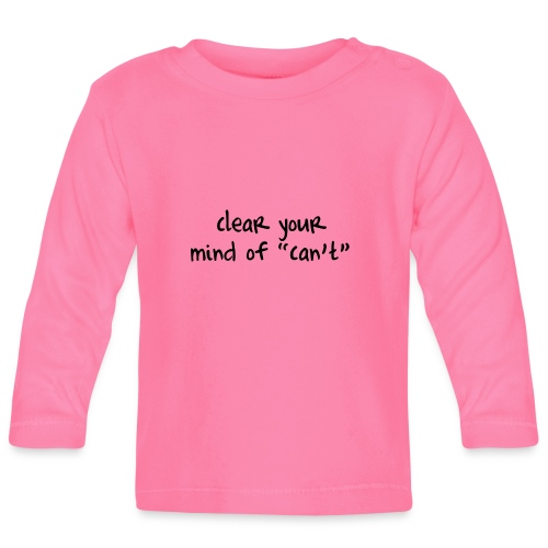 ''Clear your mind of Can't'' Motivational T-shirts - Maglietta a manica lunga per bambini