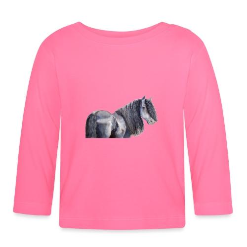 friesian horse color - Langærmet babyshirt