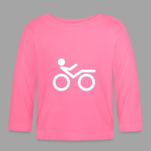 Recumbent bike white 2 - Vauvan pitkähihainen paita