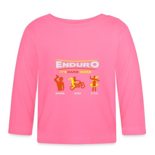Enduro - It's hard work BlackShirt - Baby Langarmshirt