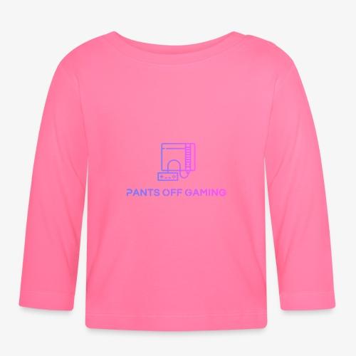 color logo transparent - Långärmad T-shirt baby