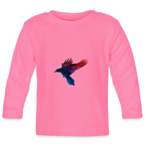 Watercolor Raven - Baby Langarmshirt