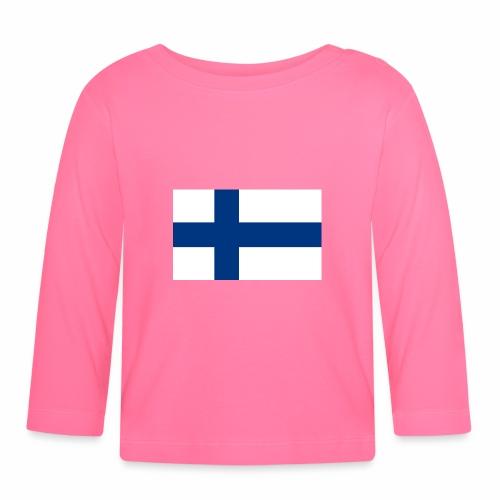 Suomenlippu - tuoteperhe - Vauvan pitkähihainen paita