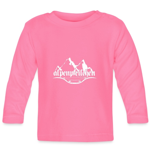 Alpenpfeilchen - Logo - white - Baby Langarmshirt