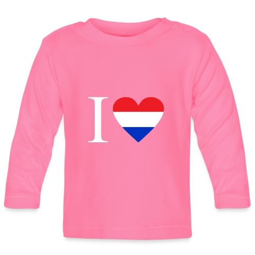 Ik hou van Nederland | Hart met rood wit blauw - T-shirt