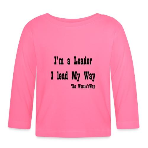 I lead My Way Black - Koszulka niemowlęca z długim rękawem