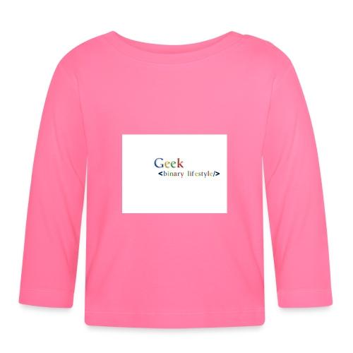 geek_life_style_google_font - Camiseta manga larga bebé