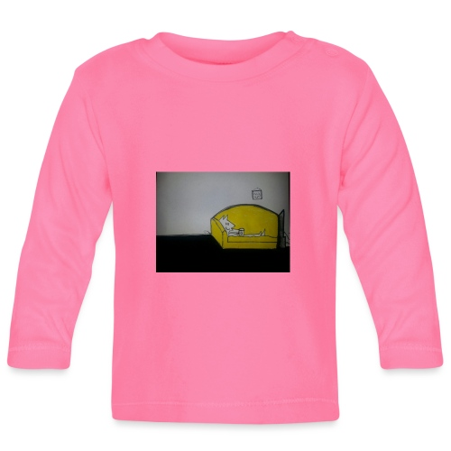 armadillo in poltrona - Maglietta a manica lunga per bambini