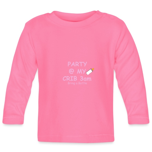 Baby Party @ crib vest - Baby Long Sleeve T-Shirt
