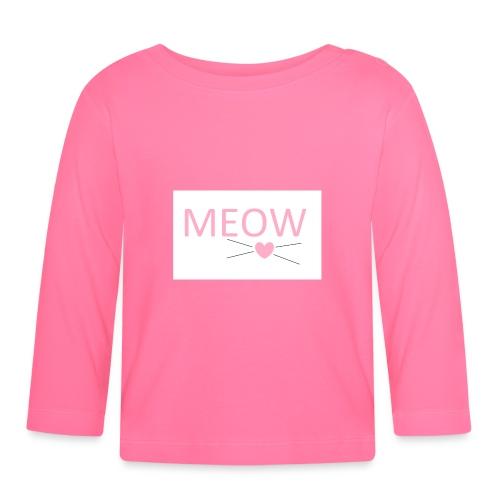MEOW - Koszulka niemowlęca z długim rękawem