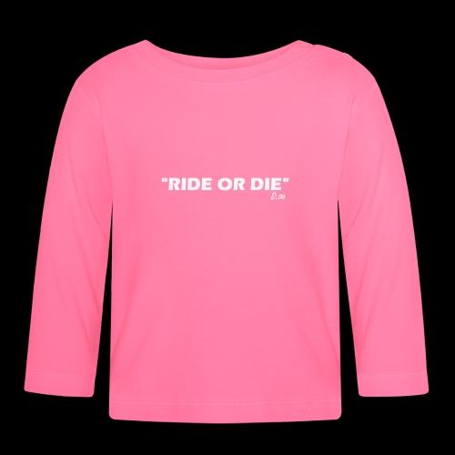 Ride or die (blanc) - T-shirt manches longues Bébé