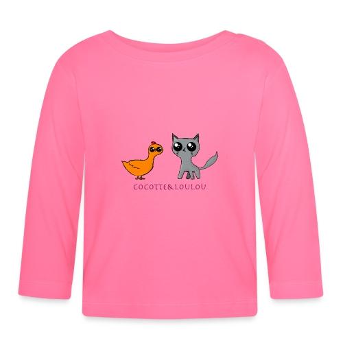 Cocotte et loulou Kawaii - T-shirt manches longues Bébé