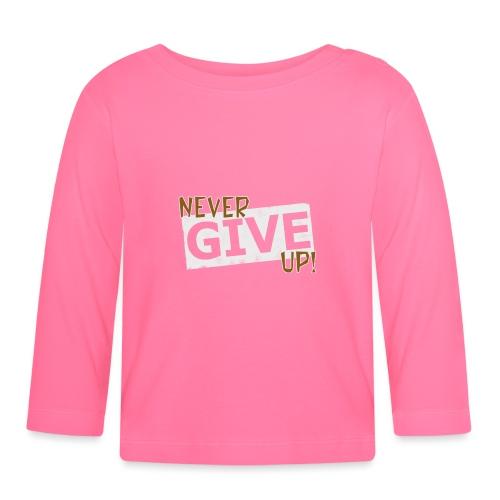 Never Give Up - Vauvan pitkähihainen paita
