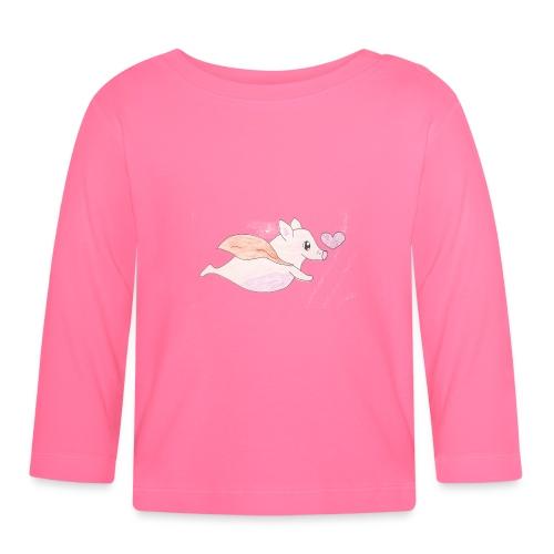 Kids for Kids: Flying Pigs - Baby Langarmshirt