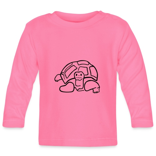 schildkröte landschildkroete aus den seychellen - Baby Langarmshirt