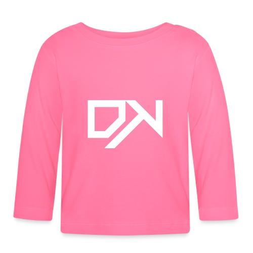 DewKee Logo Cap White - Baby Long Sleeve T-Shirt