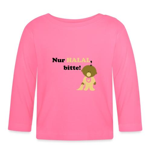 Nur Halal, bitte! Babylätzchen (männlich) - Baby Langarmshirt