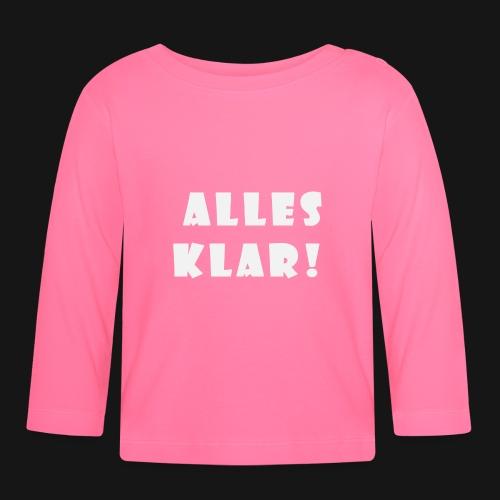 Walkeny's Alles Klar! in weiß! - Baby Langarmshirt