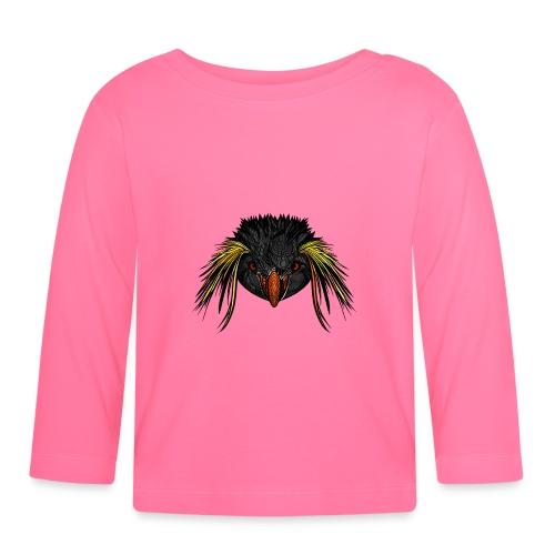 Pingvin - Langarmet baby-T-skjorte