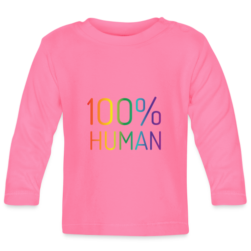 100% Human in regenboog kleuren - T-shirt