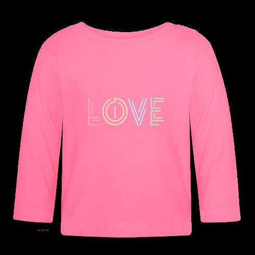 Liebe | Schriftzug kreativ bunt - Baby Langarmshirt