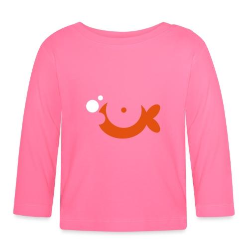 Baby Goldfish Vector - choose design colours - Baby Long Sleeve T-Shirt