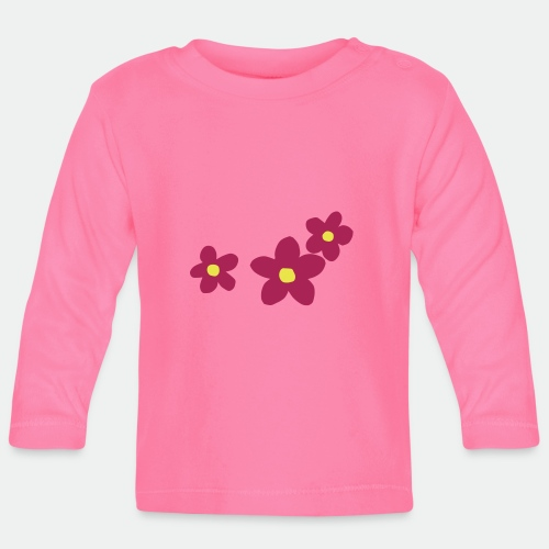Three Flowers - Baby Long Sleeve T-Shirt