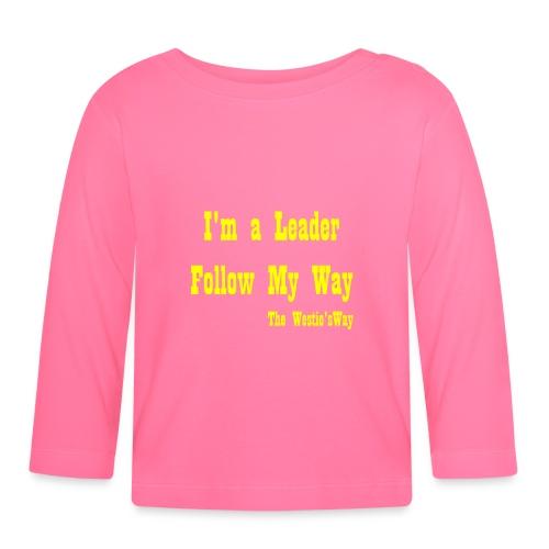 Follow My Way Yellow - Koszulka niemowlęca z długim rękawem