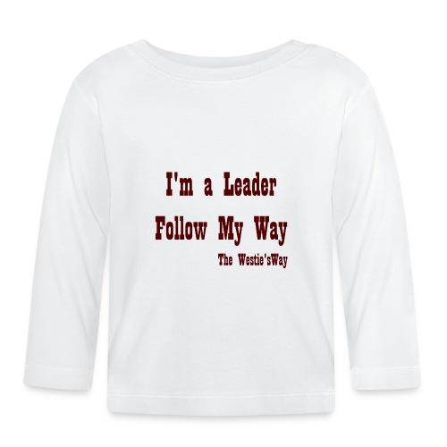 Follow My Way Brown - Koszulka niemowlęca z długim rękawem