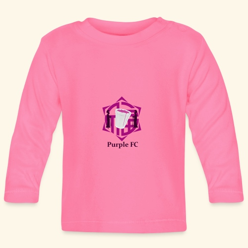 PURPLE FC - Camiseta manga larga bebé
