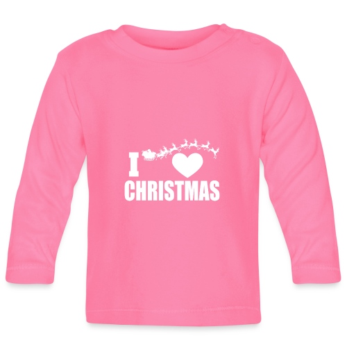 I Love Christmas Heart Natale - Maglietta a manica lunga per bambini