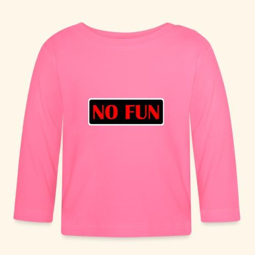 no fun - Langærmet babyshirt