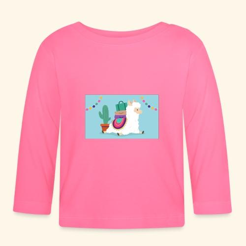 lama / alpaca - Baby Langarmshirt