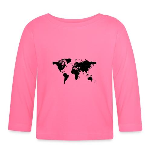 World Map - Baby Langarmshirt